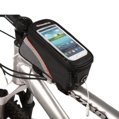 10x (Roswheel bicicleta impuesto bolsillos de tubo 4.8 pulgadas (rojo y negro) w9y6 l2a3 GP