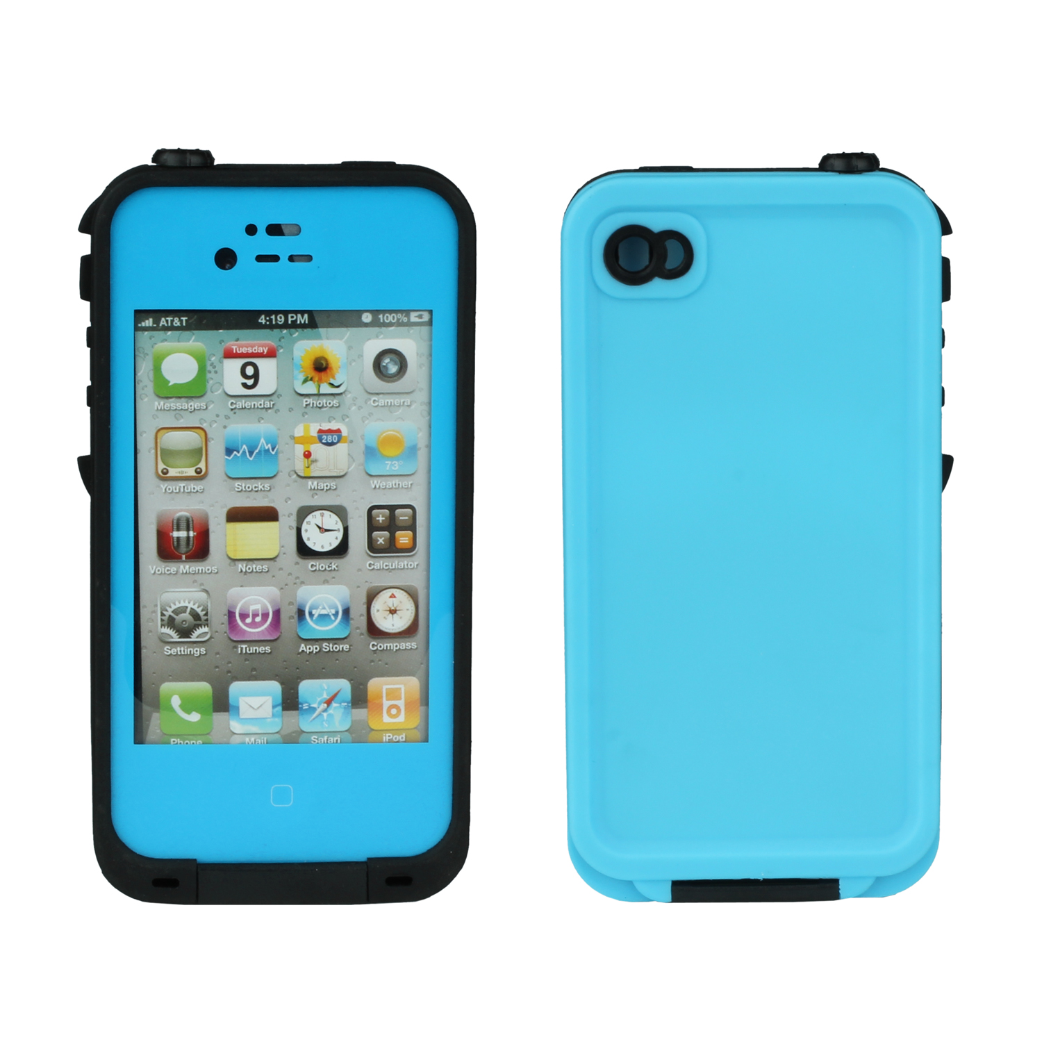 iphone 4s waterproof case pepper waterproof cover for iphone 4s light blue 14459