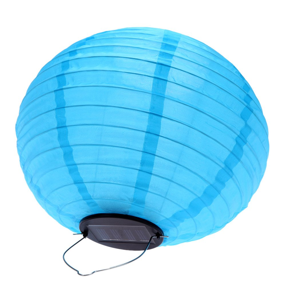 10 solar laternen solar lampion wegeleuchten fuer gartendeko blau i6p8 ebay. Black Bedroom Furniture Sets. Home Design Ideas