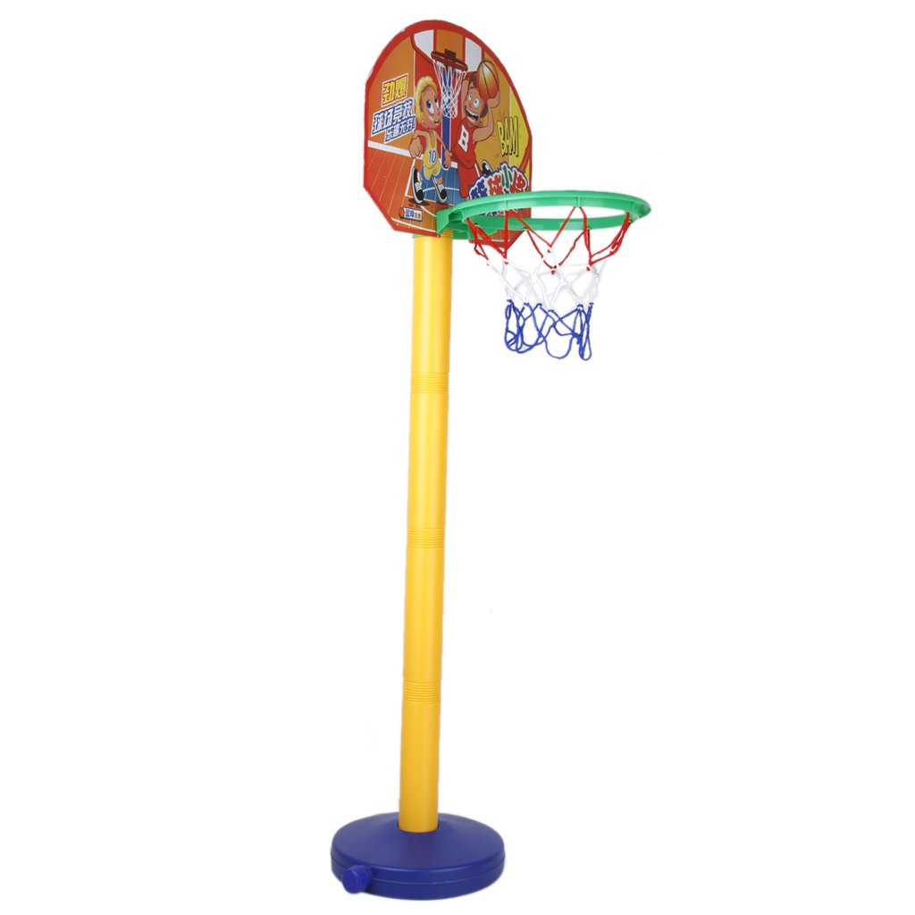 toy set portable basketball basket basketball ball with. Black Bedroom Furniture Sets. Home Design Ideas
