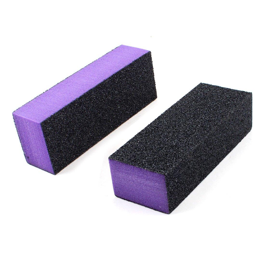 Black Purple 4 Way Nail File Art Shiner Polish Buffer Buffing Block ...