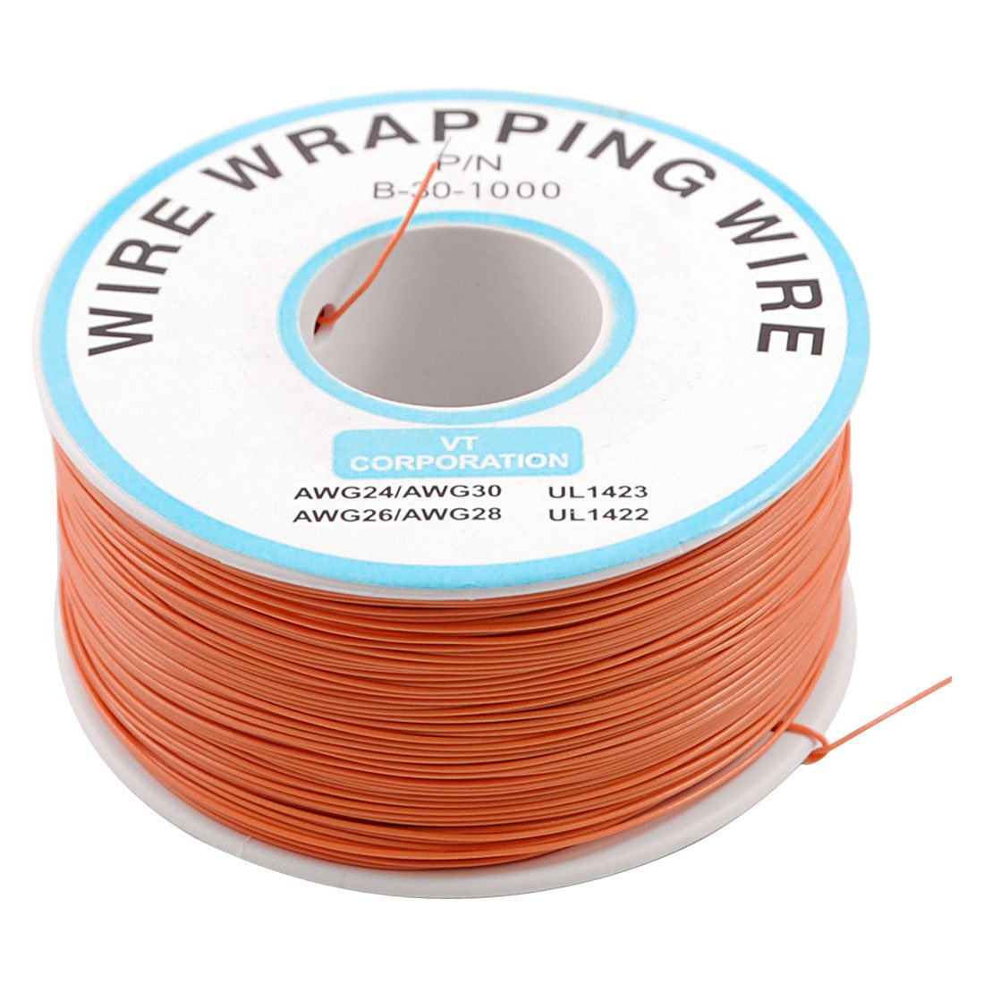 PCB Solder Orange Flexible 0.5mm Outside Dia 30AWG Wire Wrapping ...
