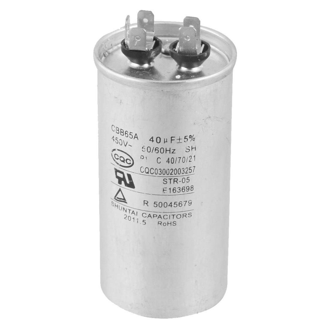 R 40uf AC 450/V 50//60/Hz Motor condensador cbb65a-1 Aire Acondicionado SODIAL