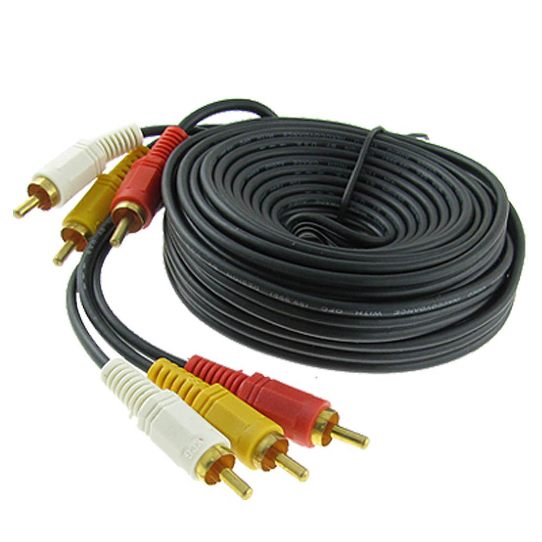 Triple 3 RCA Male to Male Audio Video DVD TV AV Cable 4.6M Long ...