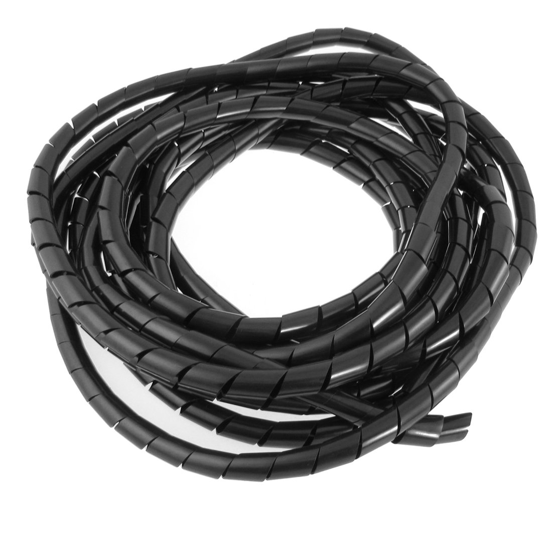 12mm Ouide Dia 22 Ft Flexible Spiral Wire Wrap Desktop PC Manage ...