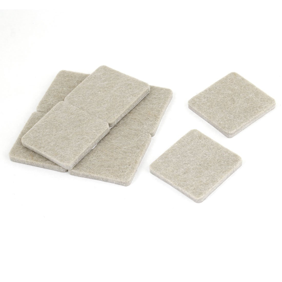 8 Pcs Home Table Chair Leg Protection Square Felt Cushion Pad Gray