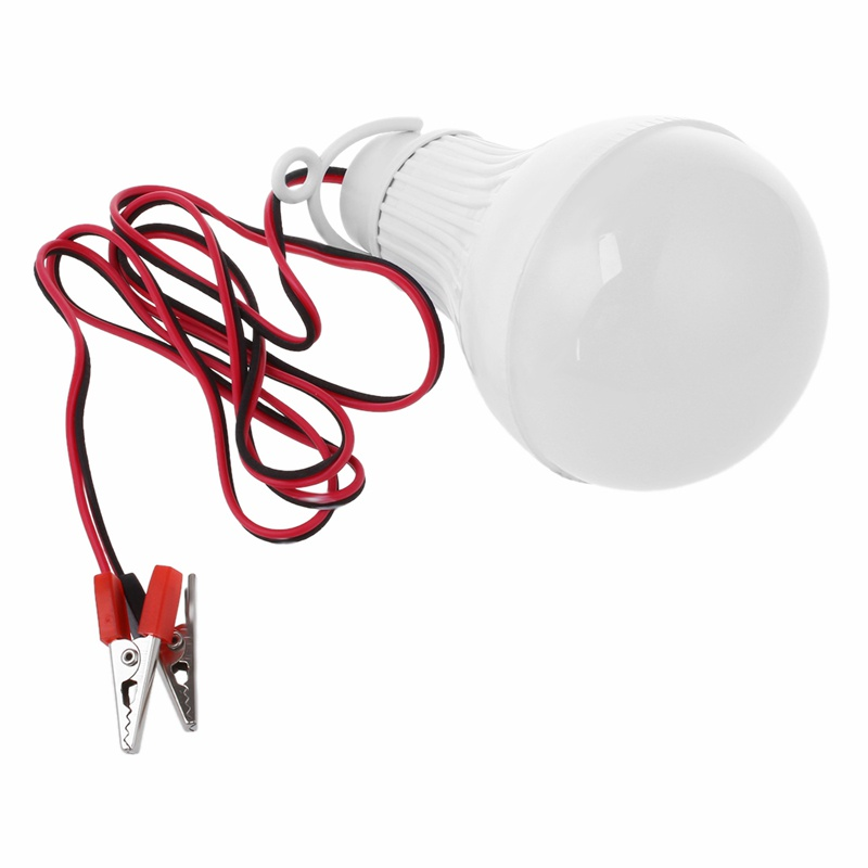 E27-12W-Bombilla-LED-Emergencia-Camping-Caza-Outdoor-Lamparas-Luz-DC-12V-PB miniatura 4