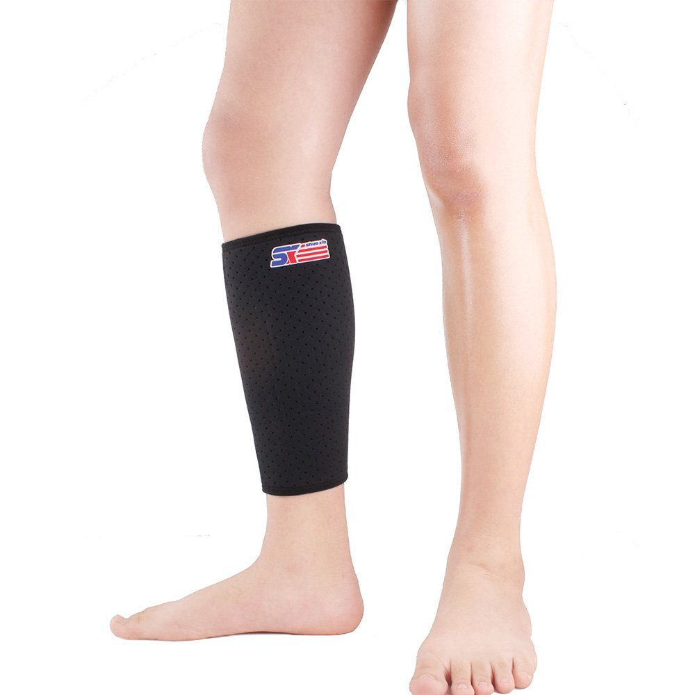 sx651 sport calf protector wrap shin running bandage leg sleeve compression ym ebay. Black Bedroom Furniture Sets. Home Design Ideas