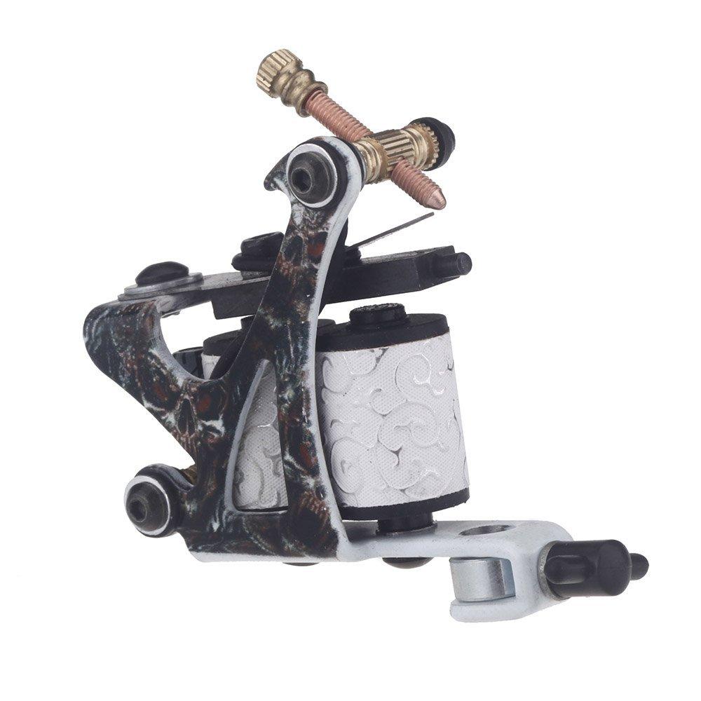 Tattoo machine gun shader liner 10 wrap coils free spring for Tattoo liner machine