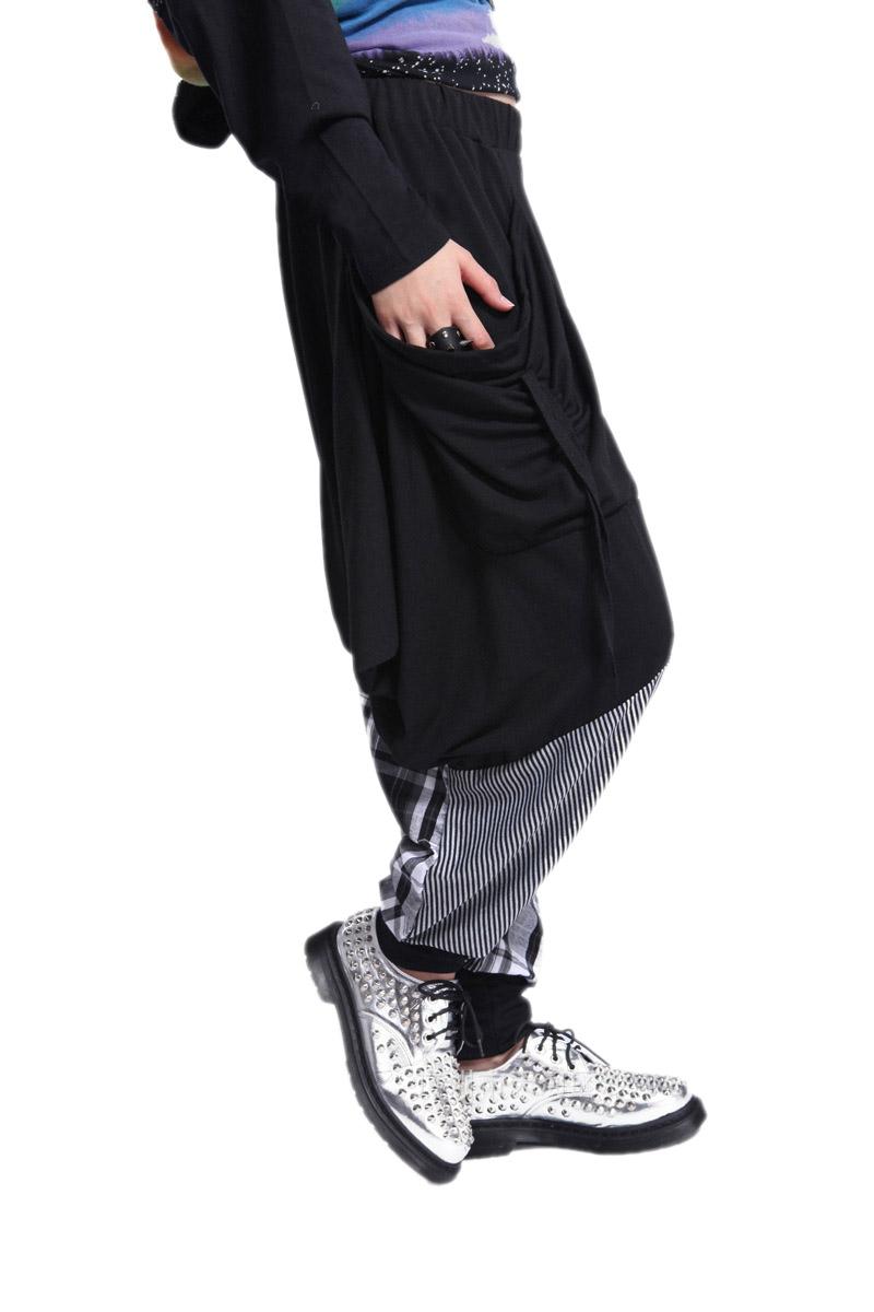 pantalon sarouel femme lache elastique en coton harem hip hop sports baggy m1 ebay. Black Bedroom Furniture Sets. Home Design Ideas