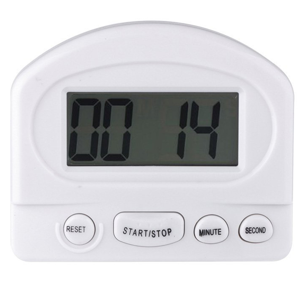 Digital Kitchen Timer With Magnetic And Clip Mounting. Simple To Operate.  Count Up U0026 Down Modes. Large U0026 Easy To Read LCD Display. Color: White