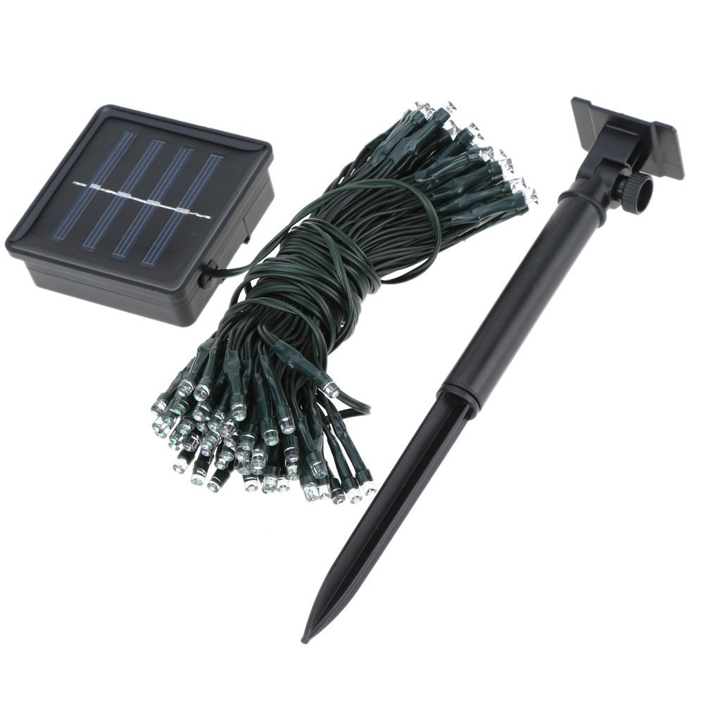 solar lichterkette blau 120 leds 13 m lang fuer den garten weihnachten dkko ebay. Black Bedroom Furniture Sets. Home Design Ideas