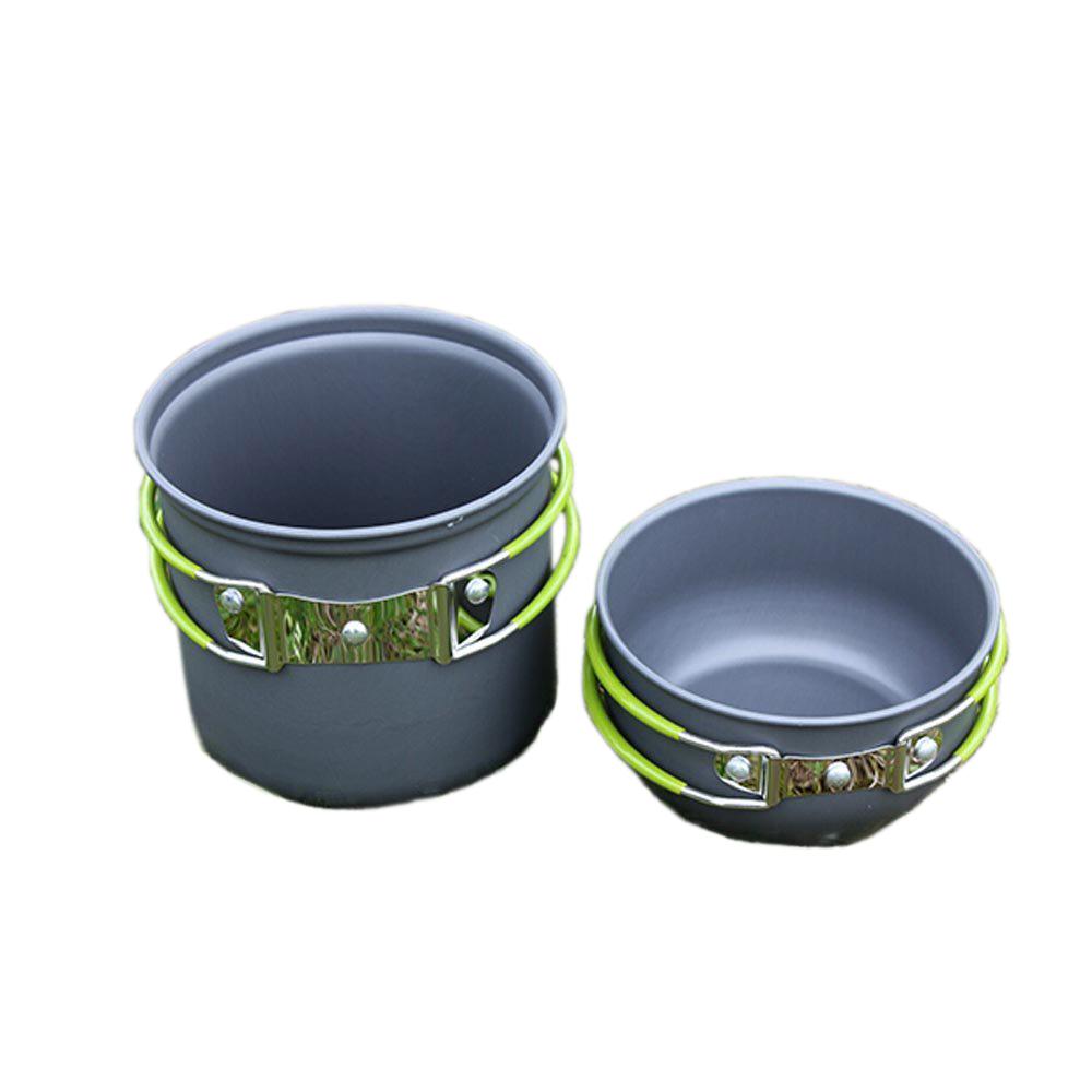 portable outdoor cooking set anodized aluminum non stick. Black Bedroom Furniture Sets. Home Design Ideas