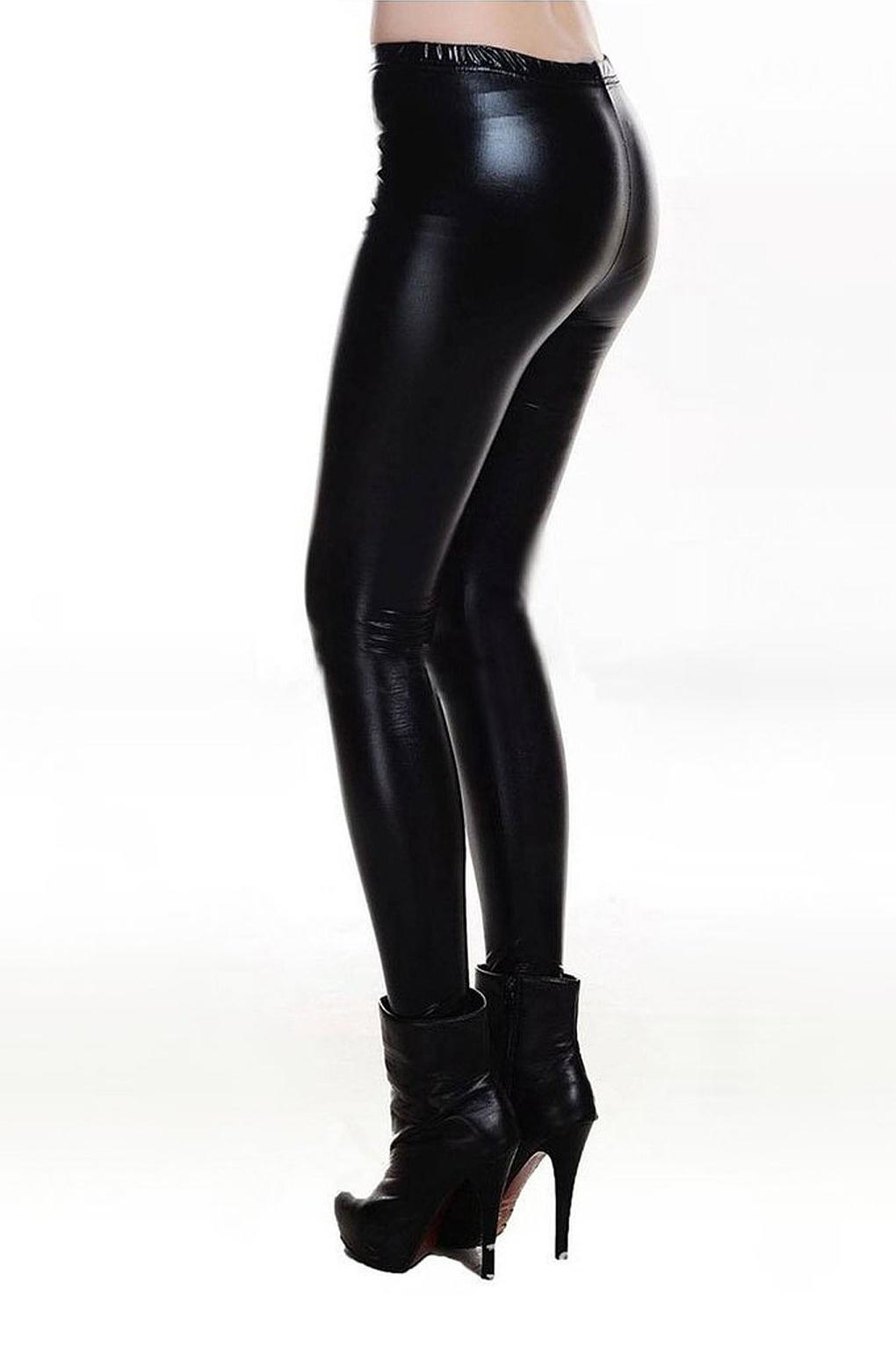 Metallic Welook Liquid Leggings Shiny Stretch Women Pencil