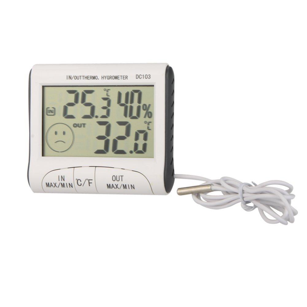 lcd digital thermometer hygrometer feuchtigkeitsmesser und. Black Bedroom Furniture Sets. Home Design Ideas