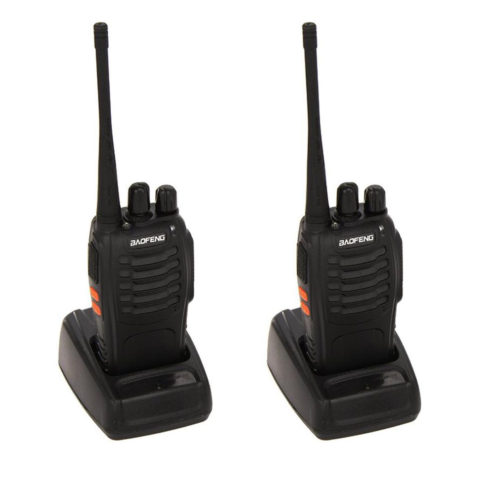 baofeng set bestehend aus 2 walkie talkie schwarz. Black Bedroom Furniture Sets. Home Design Ideas