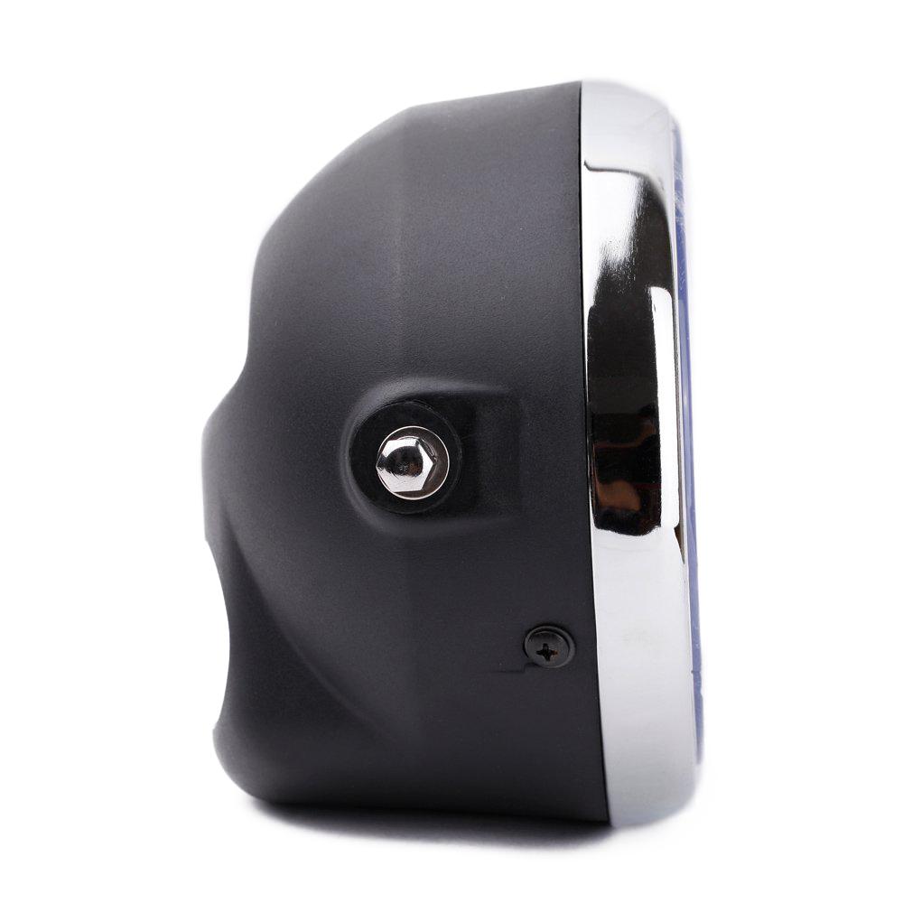 8 motorrad halo lampe led blleuchte mit h4 gluehlampe. Black Bedroom Furniture Sets. Home Design Ideas