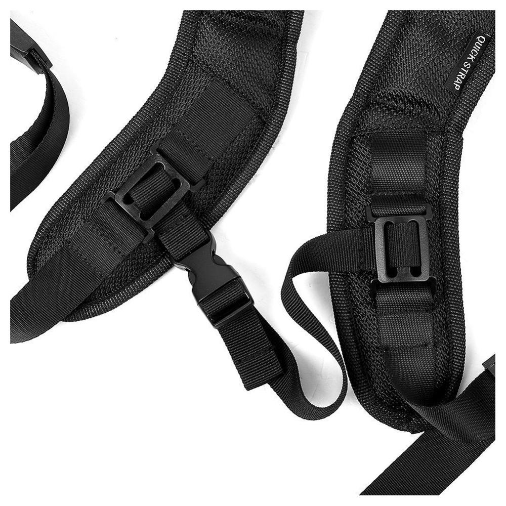 Quick release camera strap shoulder neck sling for two
