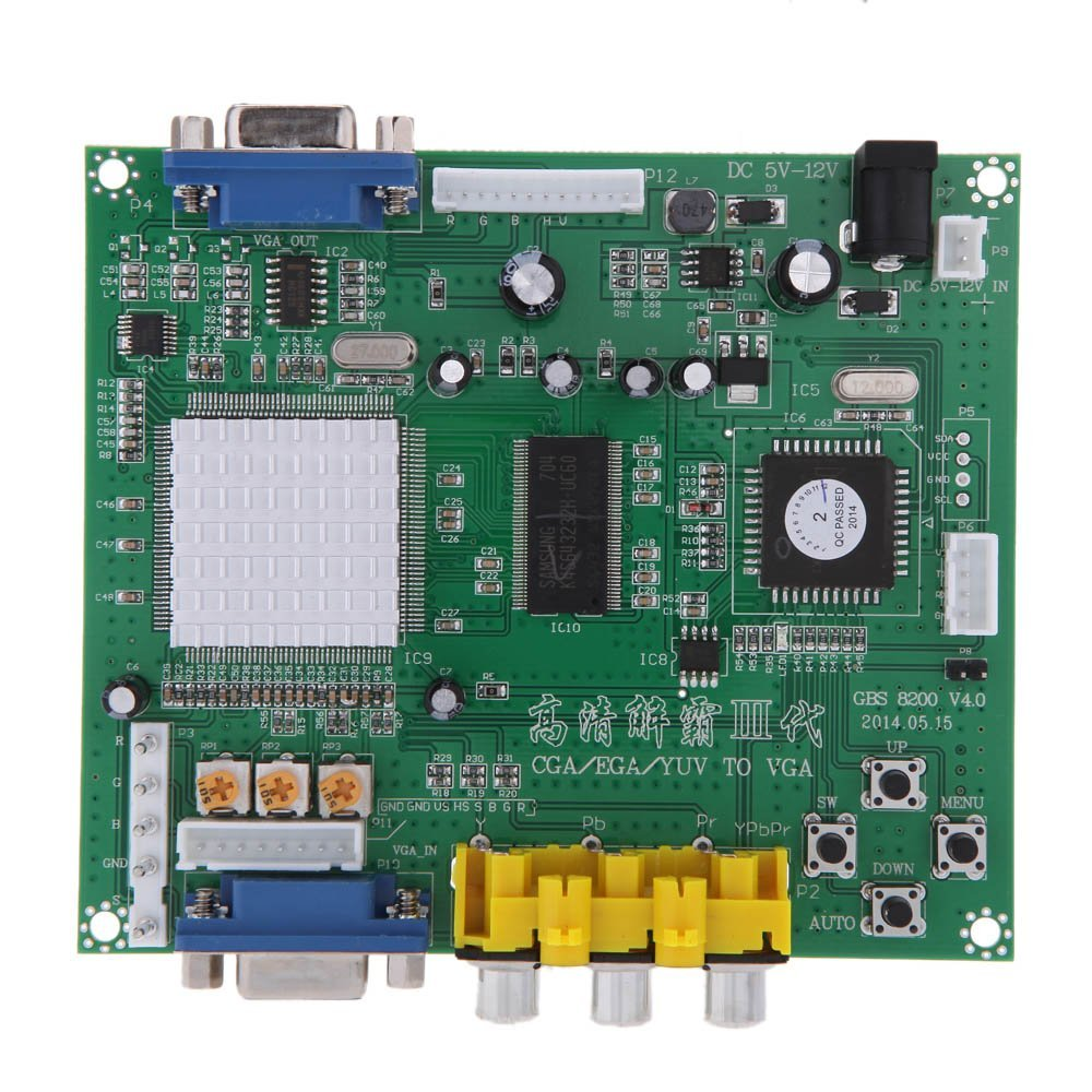 GBS8200 Relay Module Board To VGA Arcade Game Video Converter For CRT Monitor DW