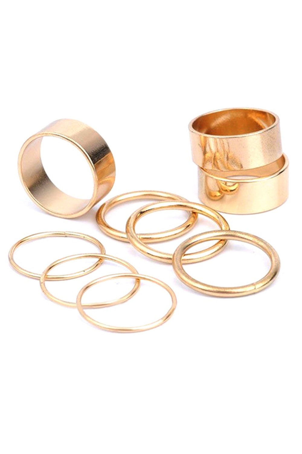 2x 9stk satz gothic punk knoechel finger ring schmuck dekorativ gold et. Black Bedroom Furniture Sets. Home Design Ideas