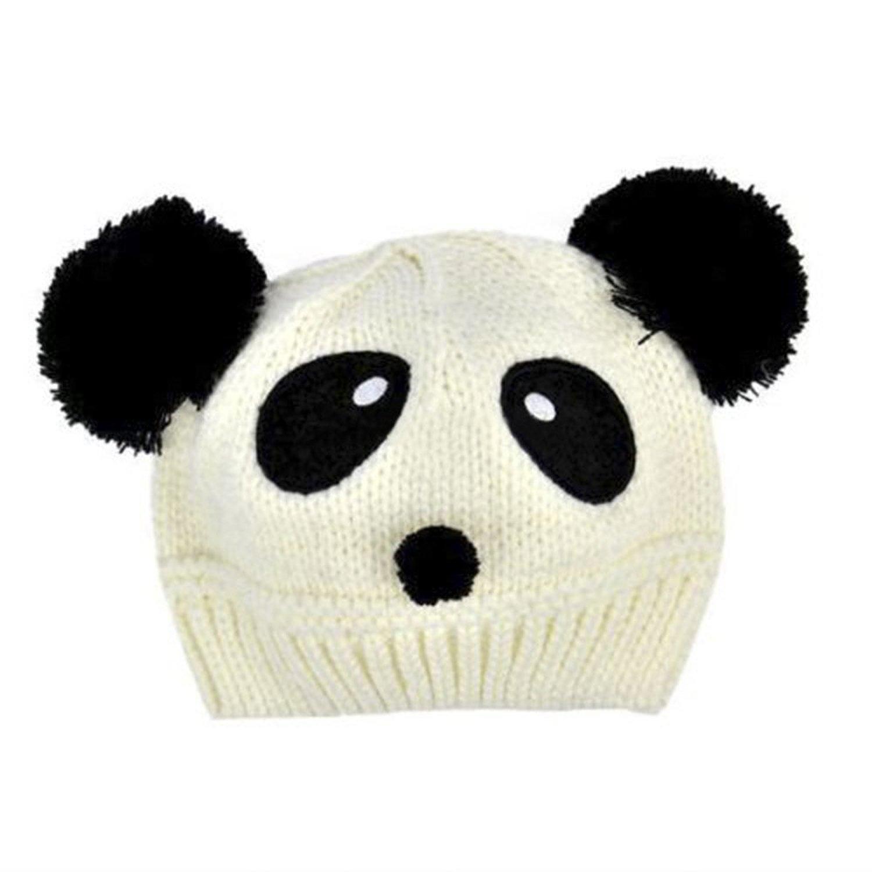 sombrero lindo y calido de ganchillo de punto de patron de panda de ...