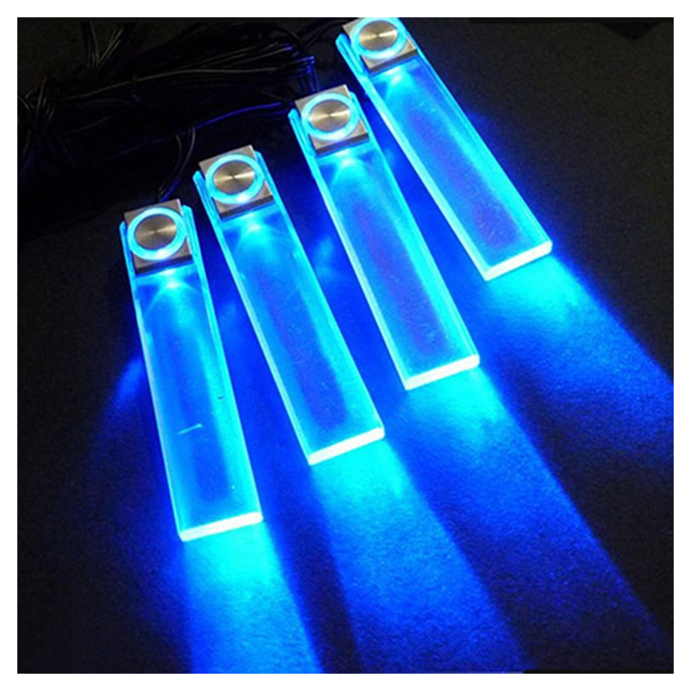 blau 12v 4 led kfz auto innenraum beleuchtung licht gy ebay. Black Bedroom Furniture Sets. Home Design Ideas