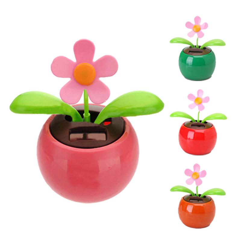 482bd60af7b3ec Flip Flap Solar Powered Flower Flowerpot Swing Dancing Toy - Red ED ...