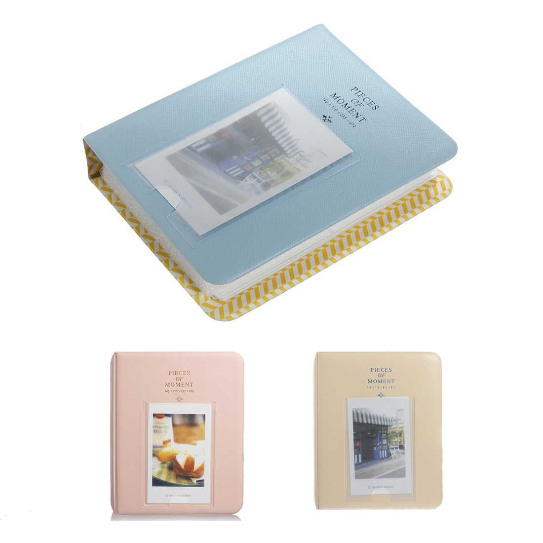 64 poches mini album case stockage pour polaroid photo. Black Bedroom Furniture Sets. Home Design Ideas