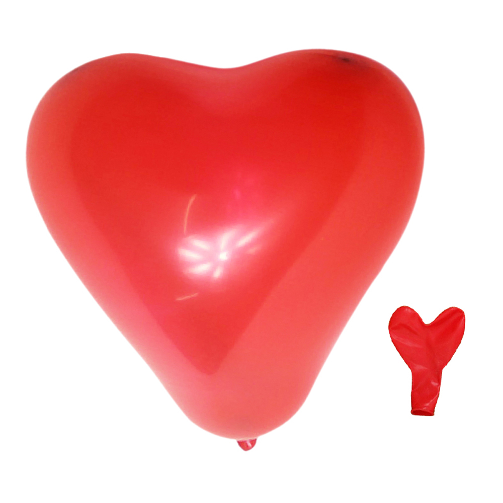 "Red Heart Shaped 11"" Latex Balloons x 20 L7P8"