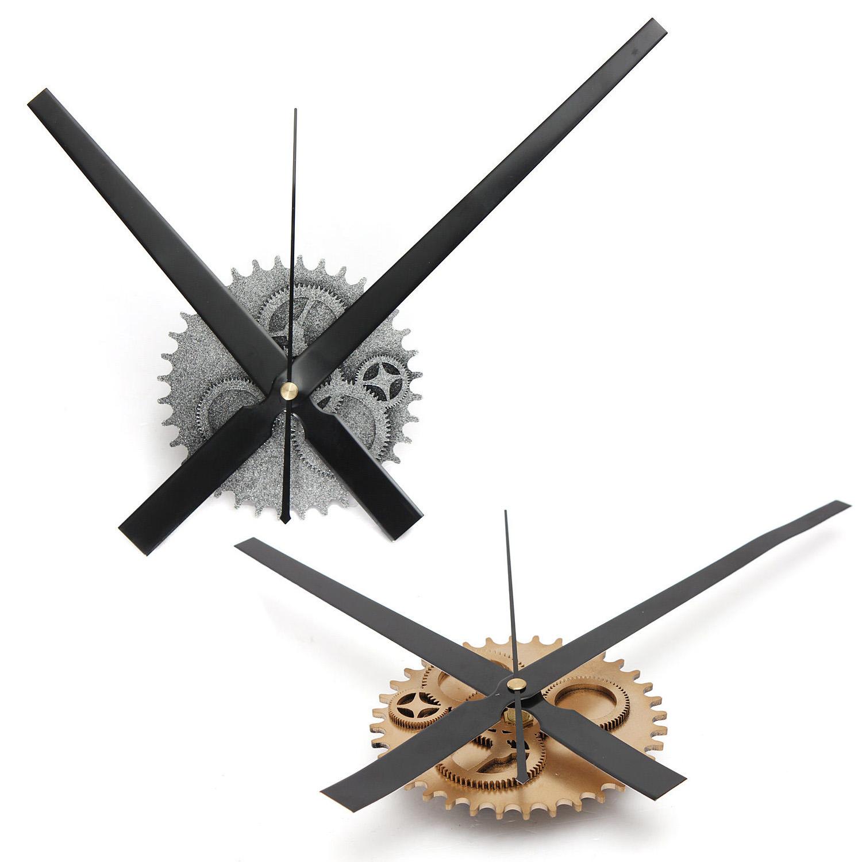 h3 vintage diy mechanismus grosse wanduhr haus wohnzimmer dekoration kunst desig ebay. Black Bedroom Furniture Sets. Home Design Ideas