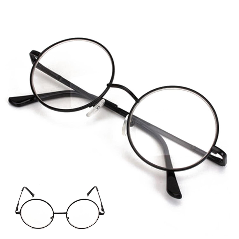 Black Frame Designer Glasses : Black Metal Rimmed Reading Glasses Retro Round Frame ...