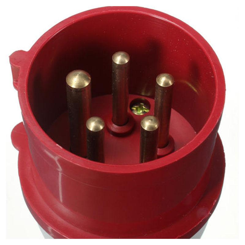 16a 5 poliger stecker buchse wetter ip44 3 phase 380 415v 3p n erde 1 h8q3 ebay. Black Bedroom Furniture Sets. Home Design Ideas