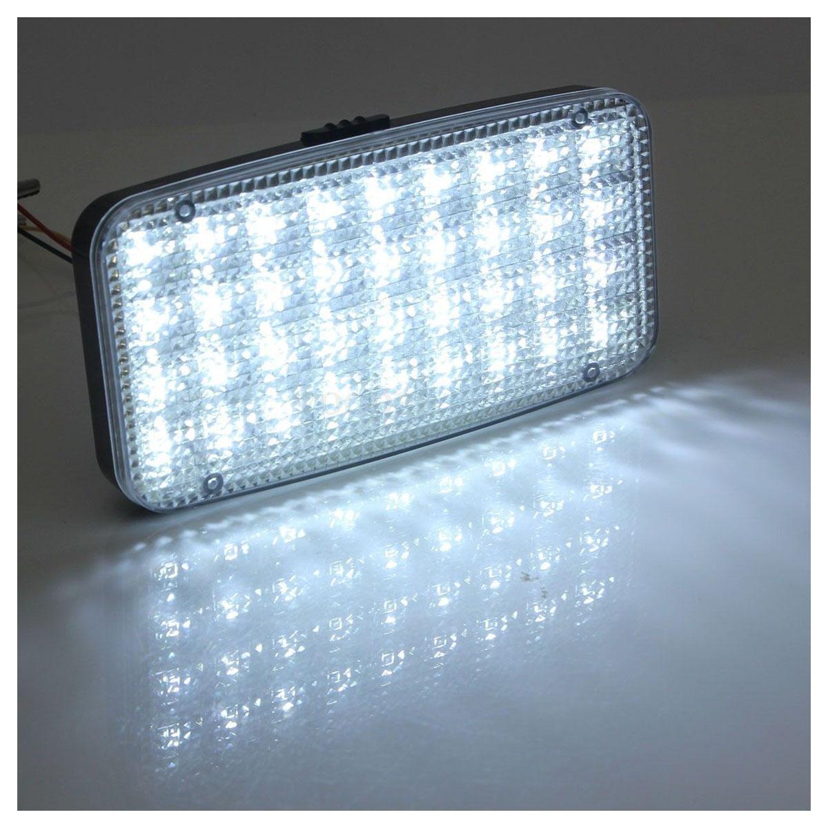 2 pc 12v 36 led light bright white auto van trunk roof. Black Bedroom Furniture Sets. Home Design Ideas