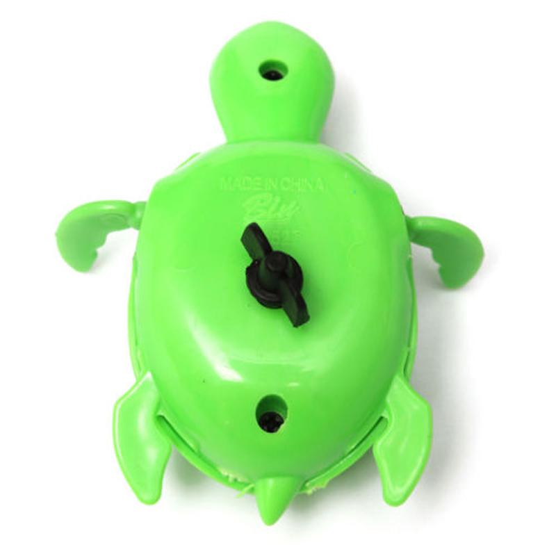 Schwimm Wind-up Schwimmende Schildkroete Sommer Spielzeug fuer Kinder Baden Q9H1 Kinderbadespaß