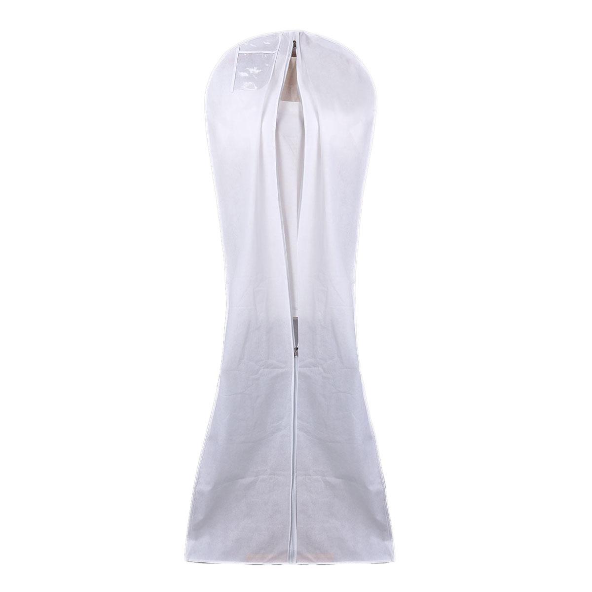 Wedding dress bridal gown garment cover storage bag carry for Storing wedding dress in garment bag