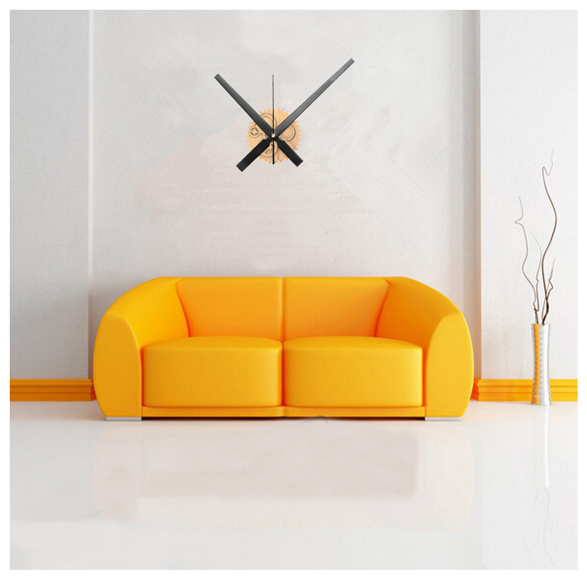 vintage diy mechanismus grosse wanduhr haus wohnzimmer dekoration kunst des f4p6 ebay. Black Bedroom Furniture Sets. Home Design Ideas