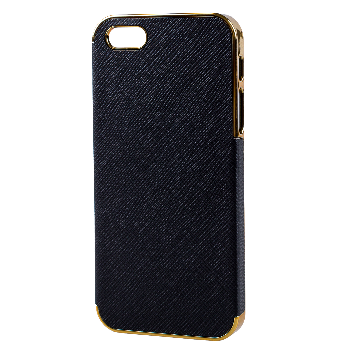 black and gold iphone 5s case frame luxury leather chrome back cover for 1209