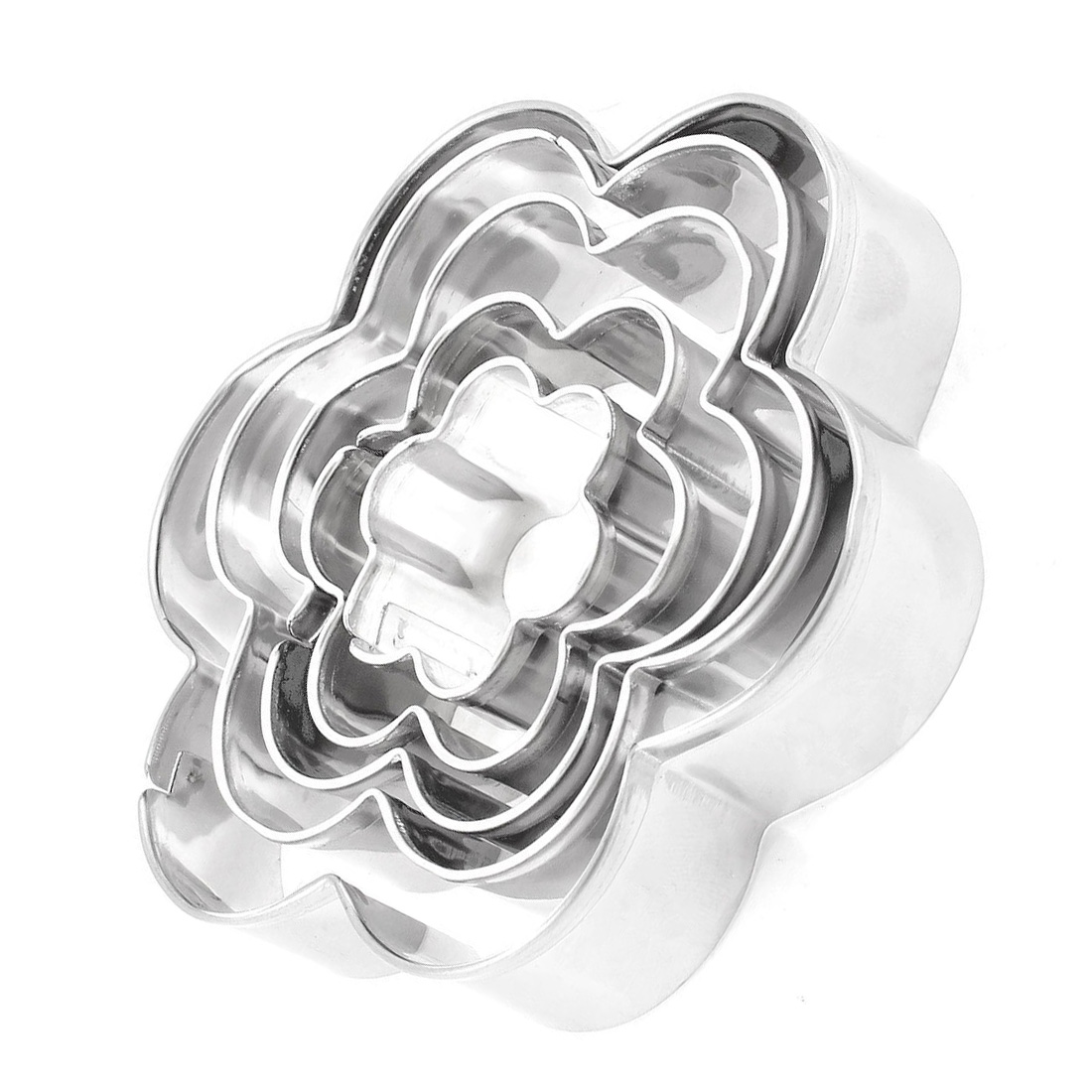 5 pieces argent patisserie biscuits emporte piece en forme de fleur wt ebay - Emporte piece patisserie originaux ...