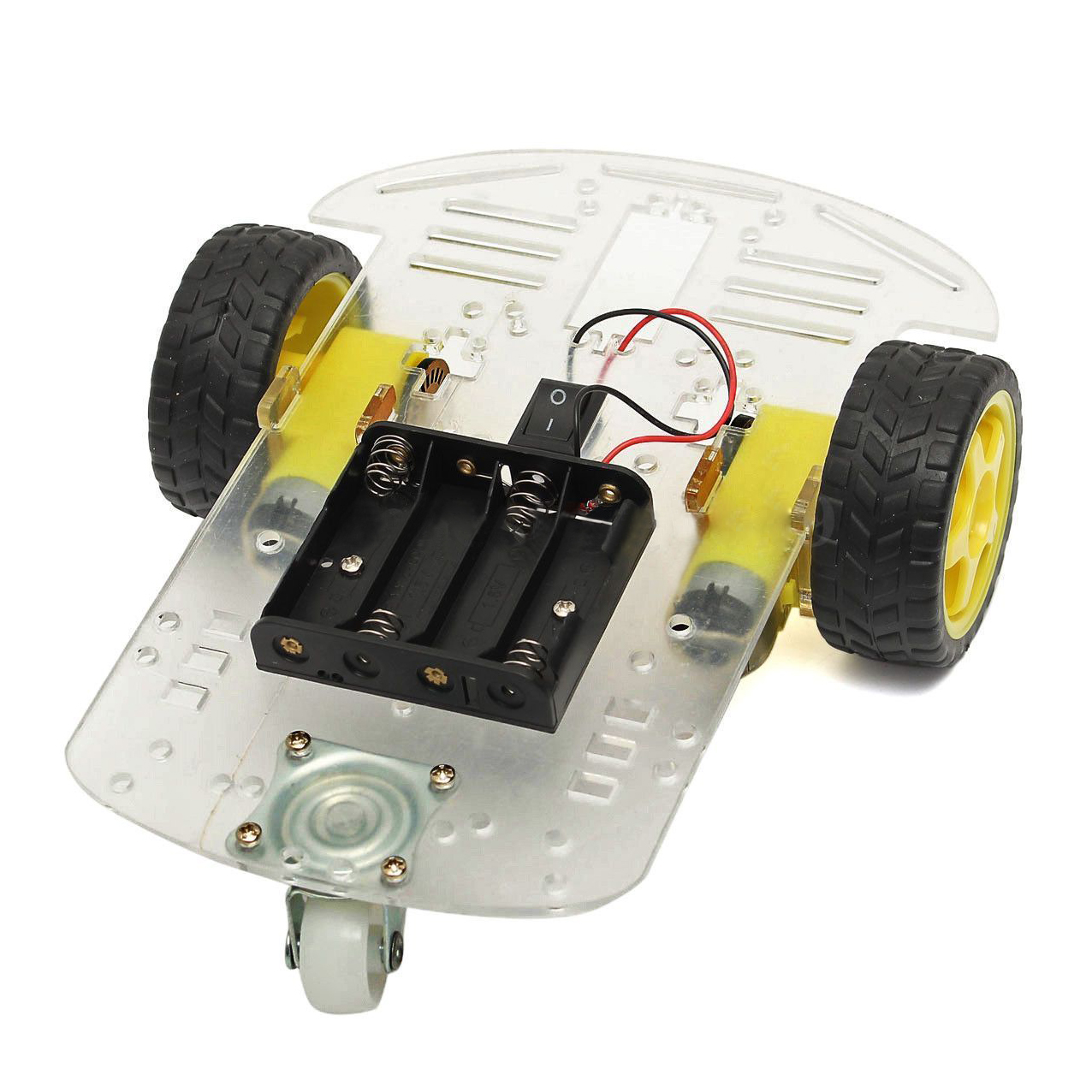 Wd smart motor robot car chassis battery box kit speed