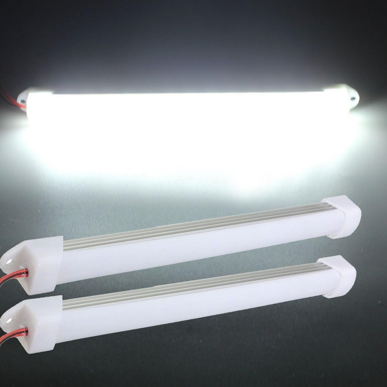 2x 12v car led smd interior light bar tube strip lamp van boat e8 ebay. Black Bedroom Furniture Sets. Home Design Ideas
