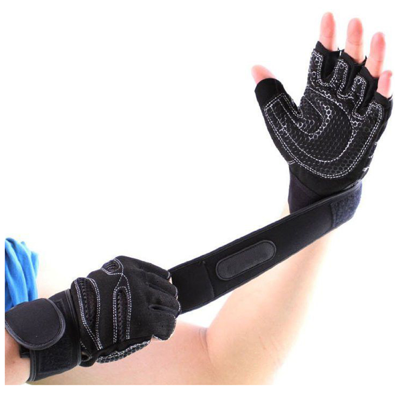 Weight Lifting Gloves With Wrap Around Wrist: Weight Lifting Gloves Gym Workout Wrist Wrap Sports
