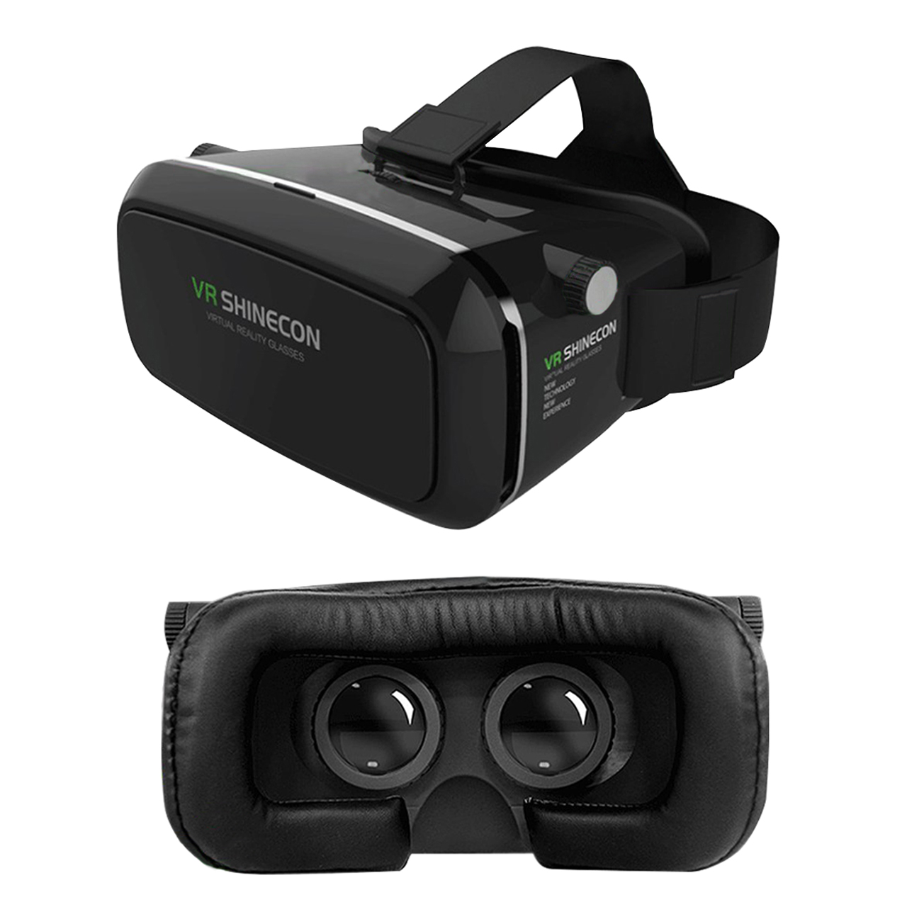 3d vr headset virtual reality box with lens and strap for. Black Bedroom Furniture Sets. Home Design Ideas