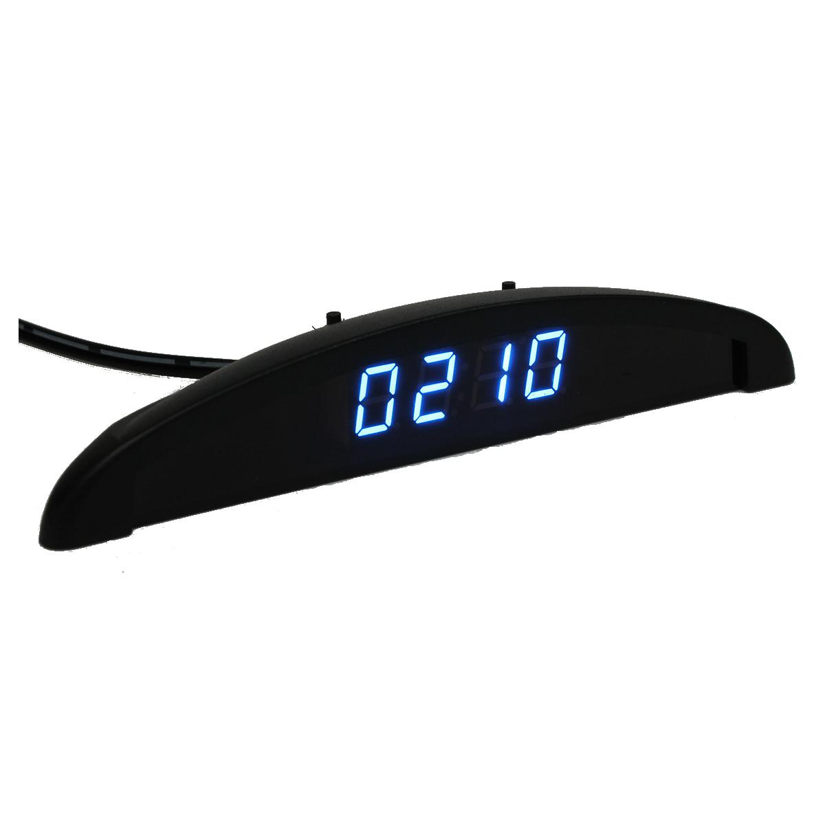 9272fe57daf4 3 en 1 Reloj electronico de LED digital de coche + termometro + voltimetro  CU