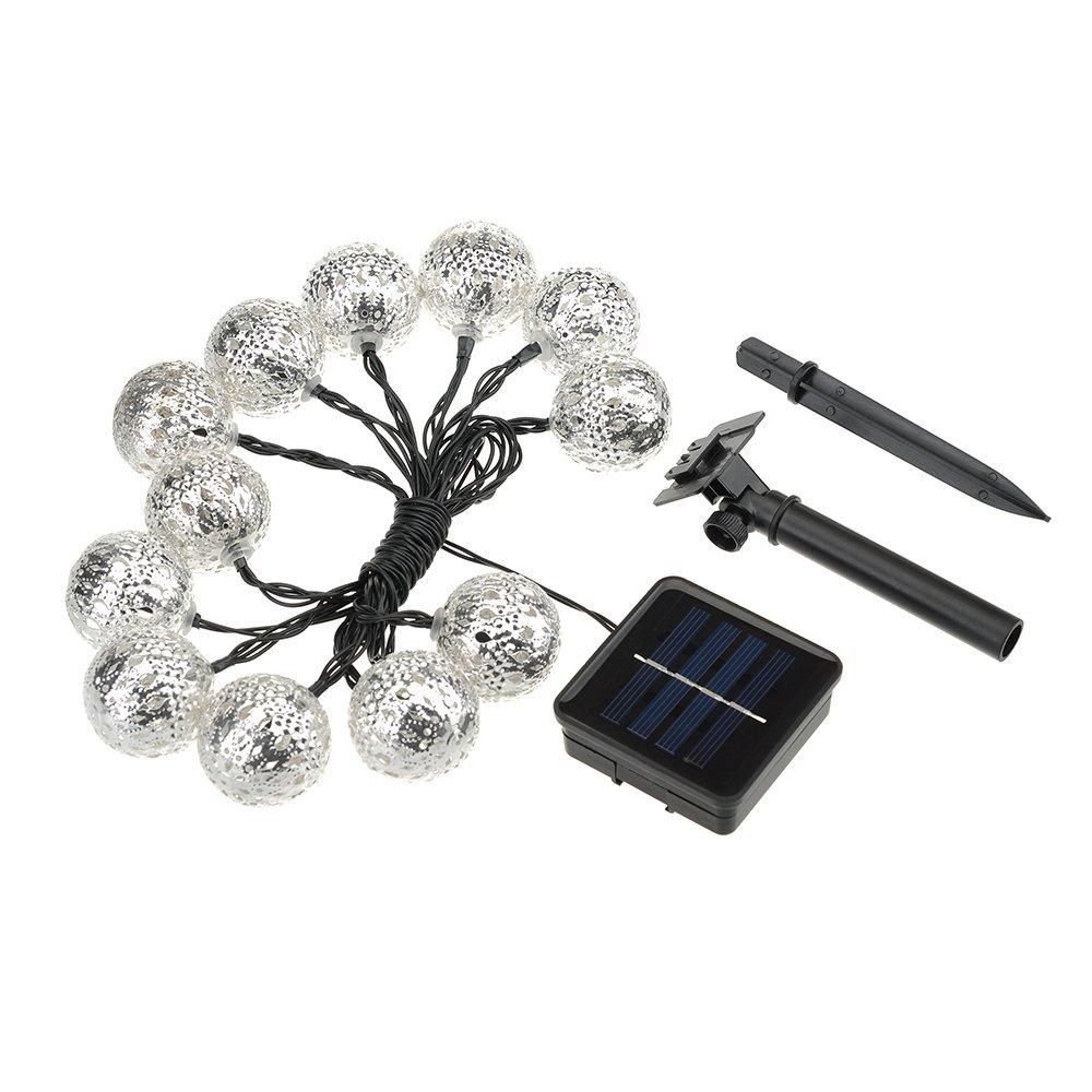 12er led lichterkette solar wasserdicht tragbar. Black Bedroom Furniture Sets. Home Design Ideas