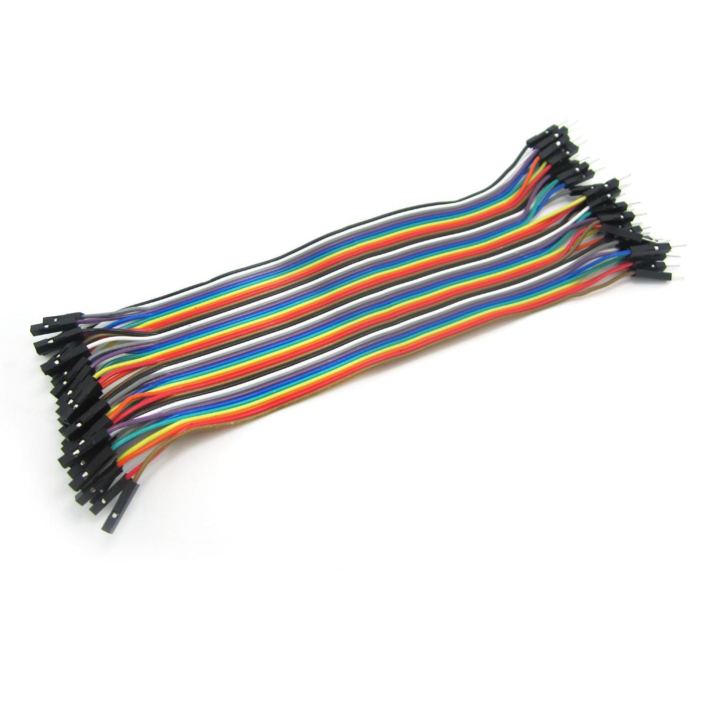 40 stücke Dupont 10 CM Männlich Zu Männlich Jumper Wire Ribbon Kabel für Breadb