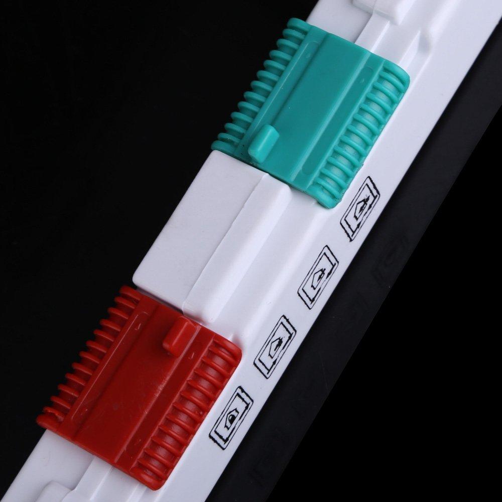 Porte verrouillable Rabat assurance ABS 4 facons pour chiens chats (Blanc L)  Y3 5