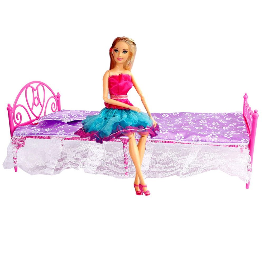 how to make a barbie doll bed