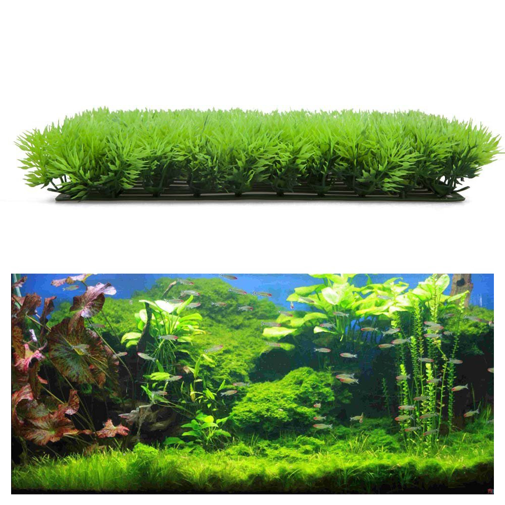 Artificial fake water aquatic green grass plant lawn Aquarium landscape