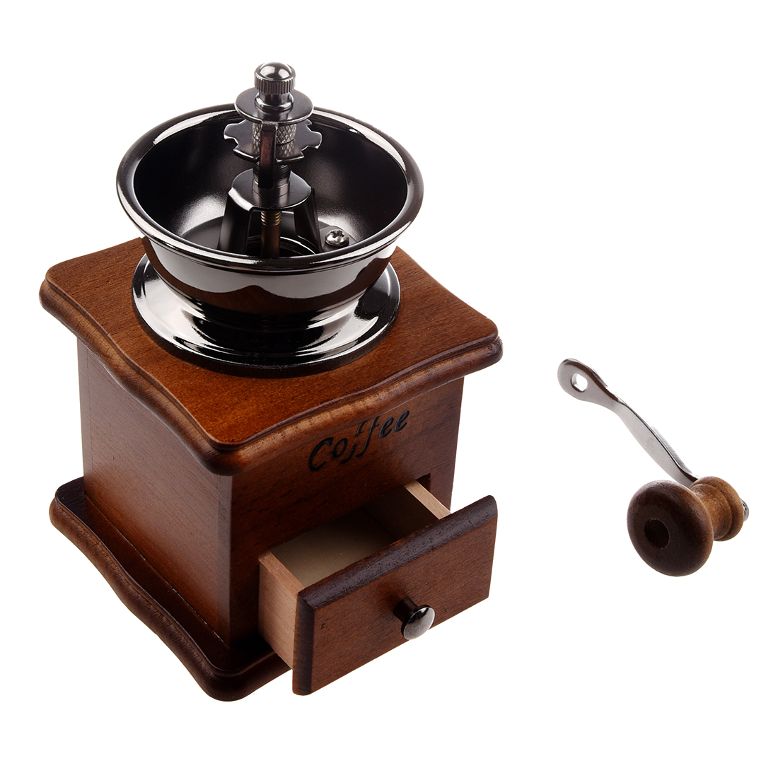 Hand Coffee Grinder ~ Manual coffee grinder wood metal hand mill spice