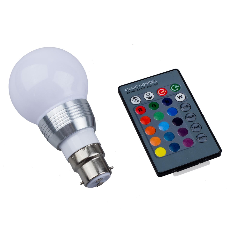 b22 3w 16 farben die rgb led mood strahler leuchte lampe. Black Bedroom Furniture Sets. Home Design Ideas
